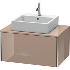 Vanity Unit For Console Wall-mounted, Cappuccino High Gloss (lacquer)