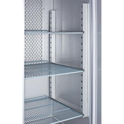 Summit - Commercially Approved Frost-free Reach-in Two-door Freezer In Complete Stainless Steel; Replaces Scff495