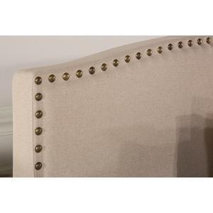 Gallery - Kerstein Fabric Headboard - King - Headboard Frame Not Included - Lt Taupe