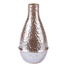 Textured Md Vase Pearl Yellow