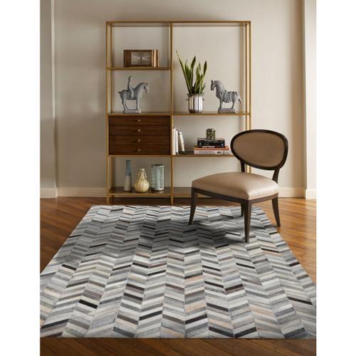 Capel Rugs - Laramie-Arrowhead Grey Multi - Rectangle - 5' x 8'