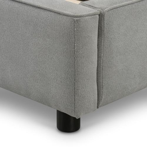 King Size Pebble Pewter Cover Aidan Bed