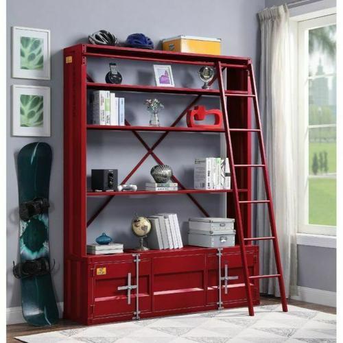 ACME Cargo Bookshelf & Ladder - 39897 - Red