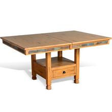 View Product - Sedona Dual Height Butterfly Leaf Dining Table w/ Slate