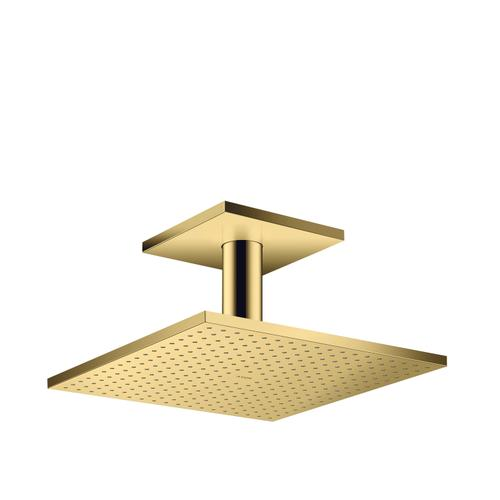 Polished Gold Optic Overhead shower 300/300 2jet with ceiling connection