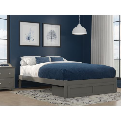 Atlantic Furniture - Colorado Queen Bed with Foot Drawer and USB Turbo Charger in Grey