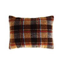 "See Details - 24""L x 18""H Fabric Pillow, Multi Color Plaid"