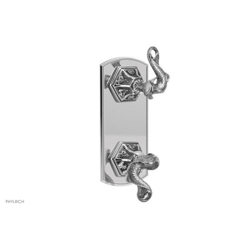 Phylrich - DOLPHIN Thermostatic Valve with Volume Control or Diverter - Dolphin Lever Handles 4-372 - French Brass