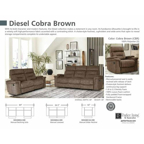 DIESEL MANUAL - COBRA BROWN Manual Sofa