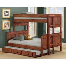 Twin/Full Stackable Bunk Bed w/Queen Rails