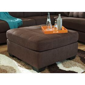 See Details - Maier Oversized Accent Ottoman Walnut