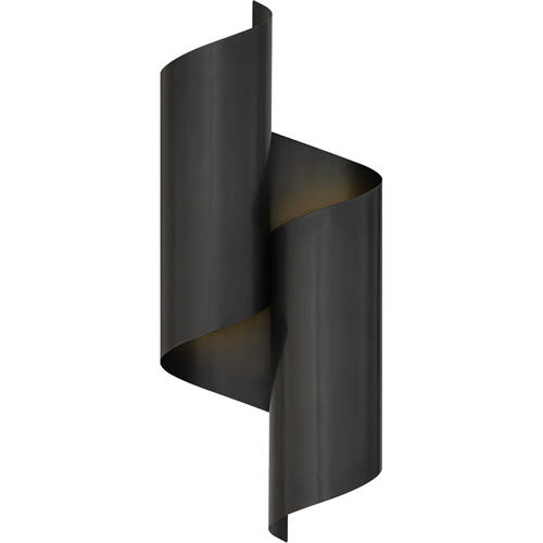 AERIN Iva 2 Light 7 inch Bronze Wrapped Sconce Wall Light, Medium
