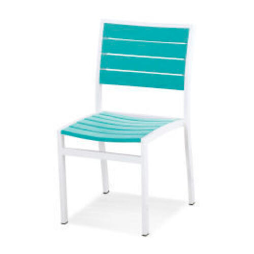 Polywood Furnishings - Eurou2122 Dining Side Chair in Satin White / Aruba