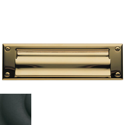 Baldwin - Satin Black Letter Box Plates