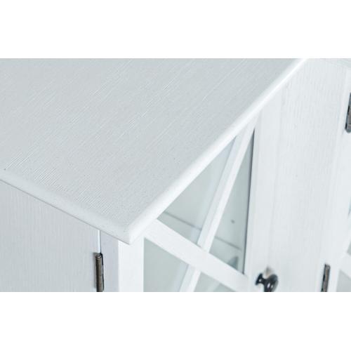 Carrington Small Breakfront Cabinet - White