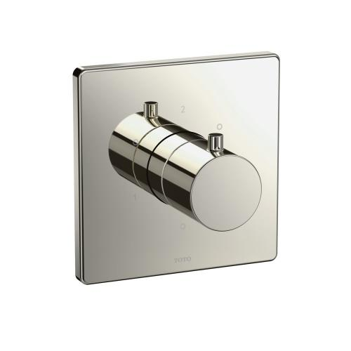 Three-way Diverter Trim with Off - Square - Polished Nickel