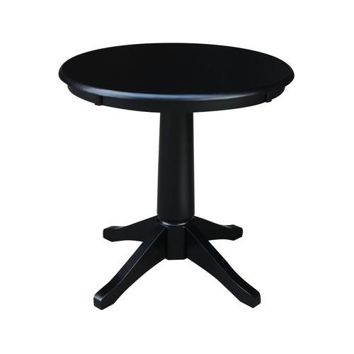 """John Thomas Furniture - 30"""" Pedestal Table in Black"""