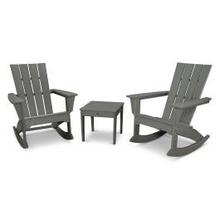 View Product - Quattro 3-Piece Rocking Chair Set in Slate Grey