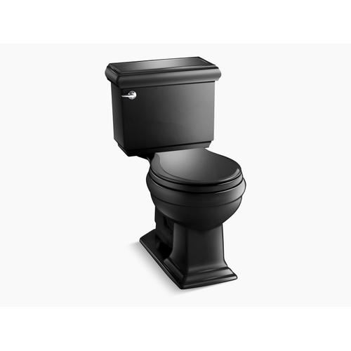 Black Black Two-piece Round-front 1.28 Gpf Chair Height Toilet With Insulated Tank