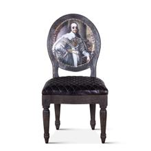 Shakespeare Dining Chair Vintage Print with Burlap Back