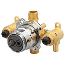 New - Treysta® Tub & Shower Valve- Vertical Inputs With Stops- Crimp Pex