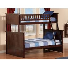 Nantucket Bunk Bed Twin over Full in Walnut