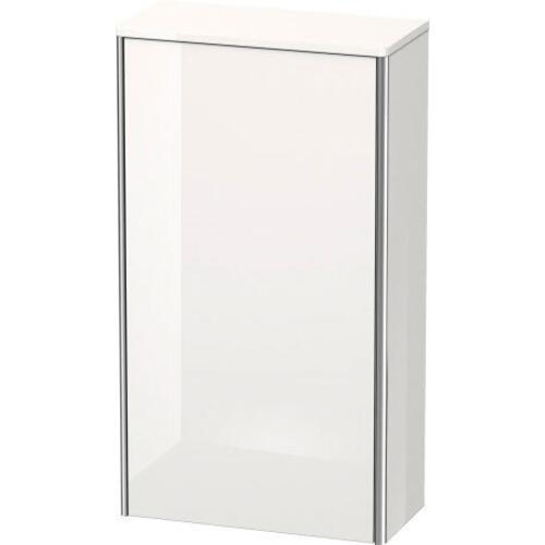 Semi-tall Cabinet, White High Gloss (decor)