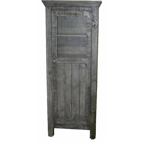 Million Dollar Rustic - Charcoal Gray Wire 1 Door Pantry