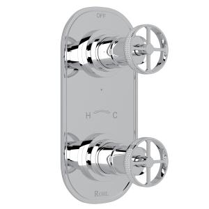 "Polished Chrome Campo 1/2"" Thermostatic/Diverter Control Trim with Metal Campo Wheel Product Image"
