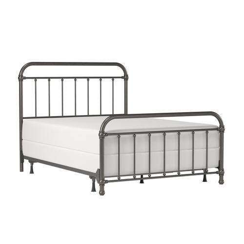 Kirkland Metal Queen Bed, Aged Pewter