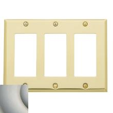 Satin Nickel Beveled Edge Triple GFCI