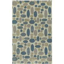 Shadows Cream Dusty Blue Hand Tufted Rugs