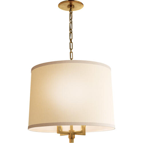 Barbara Barry Westport 4 Light 23 inch Soft Brass Hanging Shade Ceiling Light