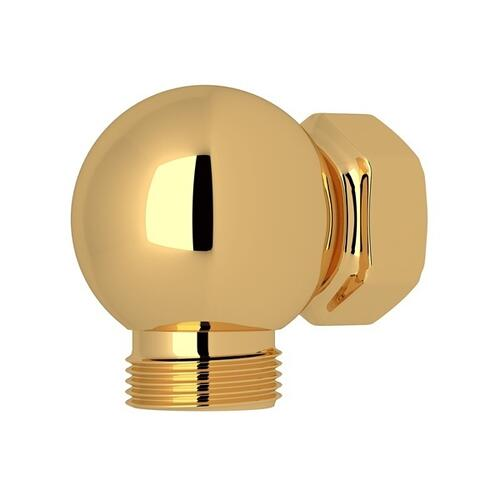 English Gold Perrin & Rowe Swivel Outlet And Connector For Exposed Shower Valves
