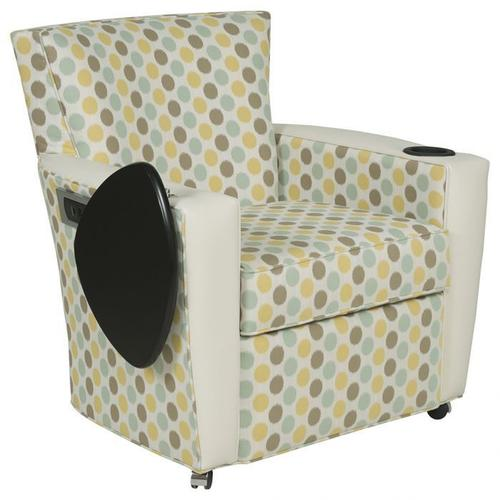 Fairfield - Payton Lounge Chair with Casters, Tablet, Charging Station, Cupholder
