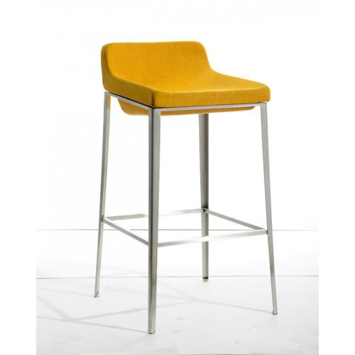 VIG Furniture - Modrest Adhil Modern Yellow Fabric Bar Stool
