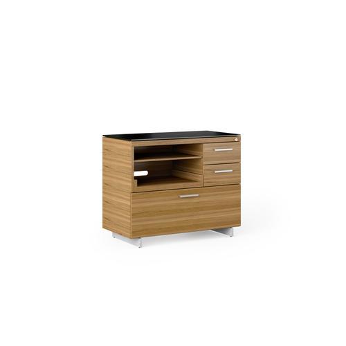 BDI Furniture - Sequel 20 6117 Multifunction Cabinet in Walnut Satin Nickel
