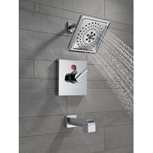 Champagne Bronze Angular Modern Temp2O ® 14 Series Tub & Shower Trim