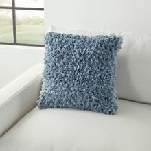 "See Details - Shag Dl660 Blue 17"" X 17"" Throw Pillow"