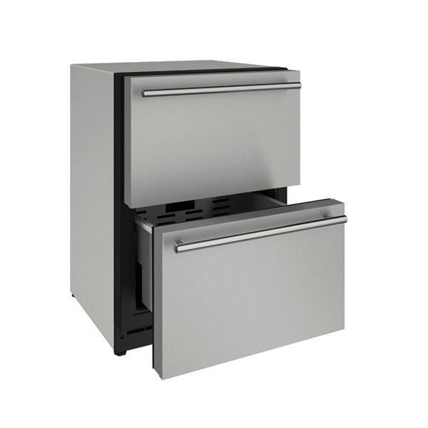 "U-Line2224dwr 24"" Refrigerator Drawers With Stainless Solid Finish (115 V/60 Hz Volts /60 Hz Hz)"