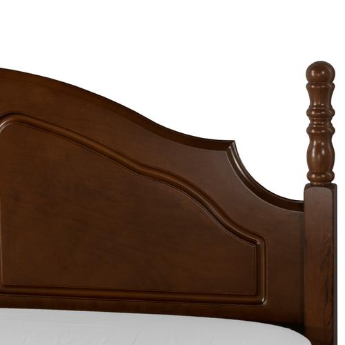 Cheryl Twin Headboard With Rails - Walnut
