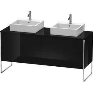 Vanity Unit For Console Floorstanding, Black High Gloss (lacquer)