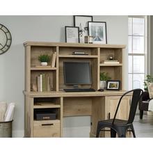 See Details - Prime Oak Computer Desk Hutch with Shelves