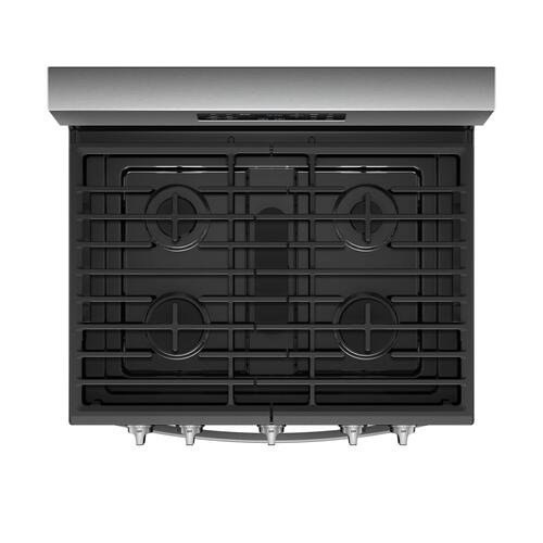 Gallery - 5.8 cu. ft. Freestanding Gas Range with Frozen Bake™ Technology Fingerprint Resistant Stainless Steel