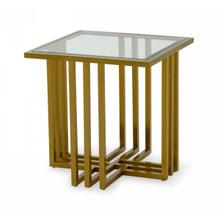 View Product - Modrest Kodiak - Glam Clear Glass and Gold Glass End Table