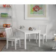 Juvenile Table and Chairs in White Product Image