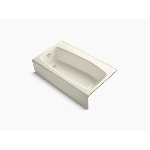 "Almond 60"" X 34"" Alcove Bath With Left-hand Drain"