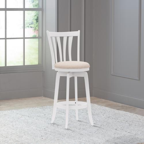 Hillsdale Furniture - Savana Wood Bar Height Swivel Stool, White