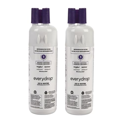 Whirlpool - Everydrop® Refrigerator Water Filter 1 - EDR1RXD1 (Pack Of 2)