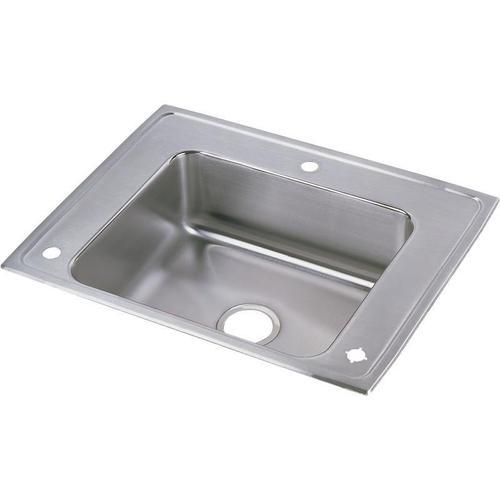 "Elkay Lustertone Classic Stainless Steel 28"" x 22"" x 6"", Single Bowl Drop-in Classroom ADA Sink"